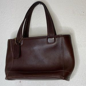 Vintage coach small brown bucket tote